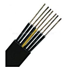 Cablu plat, PVC pentru socuri mecanice medii H07VVH6-F 4 G 2,5 negru Schrack XC050602