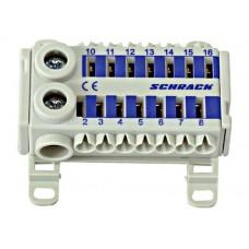 Clemă cu conexiune rapidă, albăstru, 2 x 25 mm², 14 x 6 mm² IK021078-- Schrack Romania
