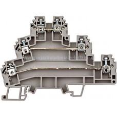 Clemă triplu etajată, gri, tip PUK 3, 2,5mm² IK680001-- Schrack Romania