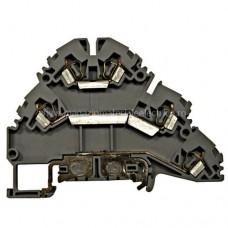 Clemă con. elast. instal., gri, YBK 2,5-2FT, L/N/PE, 2,5mm² IK690002-- Schrack Romania