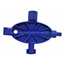 Cheie universală din plastic, cruce (4 biţi), albăstru IL900382-- Schrack Romania