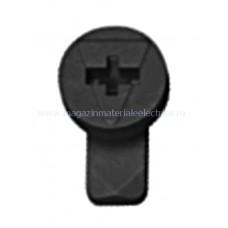 Zăvor rotativ negru pentru mască metalică cu împământare IL902252-- Schrack Romania