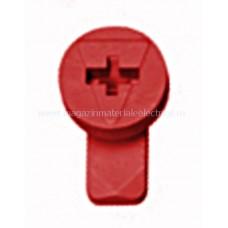 Zăvor rotativ roşu pentru mască din plastic IL902261-- Schrack Romania